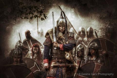 Vikings with swords